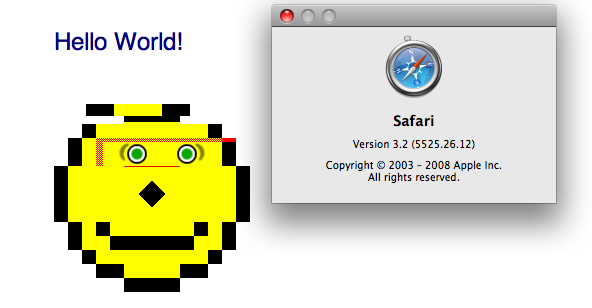 Safari 3.2 fails the Acid2 test